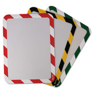 Tarifold, Inc. High Visibility Safety Frame Display Pocket-Self Adhesive,10 1/4 x 14 1/2, RD/WH (TFIP194993)