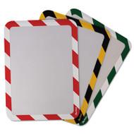 Tarifold, Inc. High Visibility Safety Frame Display Pocket-Self Adhesive,10 1/4 x 14 1/2, YW/BK (TFIP194994)