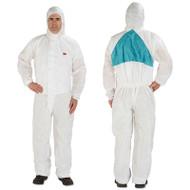 3M Disposable Protective Coveralls, White, Medium, 25/Carton (MMM4520BLKM)