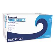 Boardwalk Exam Vinyl Gloves, Powder/Latex-Free, 3 3/5 mil, Clear, Small, 100/Box (BWK361SBX)