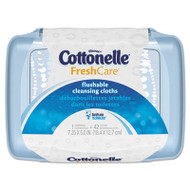 Cottonelle Fresh Care Flushable Cleansing Cloths, White, 3.75 x 5.5, 42/Pack, 8 Packs/CT (KCC36734CT)