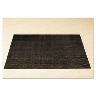 Office Settings Placemats, 17 x 12, Black, 12/Box (OSIVPMBK)