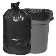 Boardwalk Waste Can Liners, 60gal, 38 x 58, .95mil, Gray, 25 Bags/Roll, 4 Rolls/CT (BWK528)