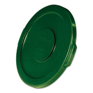 "Rubbermaid Commercial Flat Top Lid for 10-Gallon Round Brute Container, 16"" dia., Dark Green, 6/Carton (RCP2609DGR)"