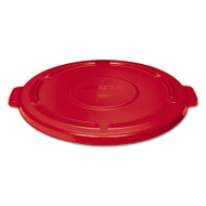 Rubbermaid Commercial Vented Round Brute Lid, 24 1/2 x 1 1/2, Red (RCP264560RED)