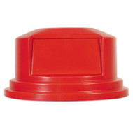 "Rubbermaid Commercial Round Brute Dome Top Lid for 55gal Waste Containers, 27 1/4"" dia, Red (RCP265788RED)"