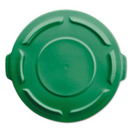 "Rubbermaid Commercial Flat Top Lid for 20-Gal Round Brute Container, 19 7/8"" dia, Dark Green, 6/Carton (RCP261960DGR)"