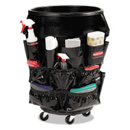 Rubbermaid Commercial Brute Caddy Bag, 12 Pockets, Black, 6/Carton (RCP1867533CT)