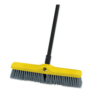 "Rubbermaid Commercial Medium Floor Sweeper Head, 18"", Polypropylene/Tampico, 12/Carton (RCP9B08GRACT)"