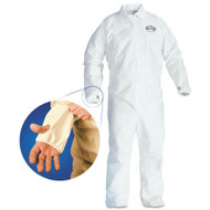 KleenGuard* A40 Breathable Back Coverall with Thumb Hole, White/Blue, Large, 25/Carton (KCC42526)
