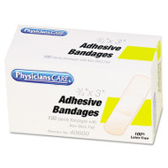 "PhysiciansCare by First Aid Only First Aid Plastic Bandages, 3/4"" x 3"", 100/Box (ACMG155)"