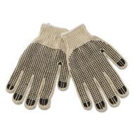 Boardwalk PVC-Dotted String Knit Gloves, Large, Dozen (BWK792)