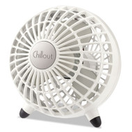 "Honeywell Chillout USB/AC Adapter Personal Fan, White, 6""Diameter, 1 Speed (HWLGF3W)"