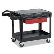 Rubbermaid Commercial TradeMaster Cart, 500-lb Cap, One-Shelf, 38-5/8w x 52-1/2d x 37-7/8h, Black (RCP453588BLA)