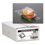 Handi-Bag Jumbo Sandwich Bags, Fold Lock, 5 1/2 x 6 1/4, 0.7mil, Clear, 3000/Carton (WBIHB7)