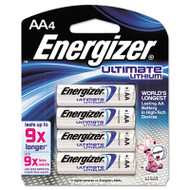Energizer Lithium Batteries, AA, 4/Pack (EVEL91BP4)