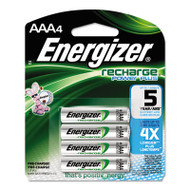 Energizer NiMH Rechargeable Batteries, AAA, 4 Batteries/Pack (EVENH12BP4)