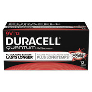 Duracell Quantum Alkaline Batteries with Duralock Power Preserve Technology, 9V, 72/CT (DURQU1604)