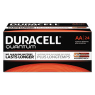 Duracell Quantum Alkaline Batteries with Duralock Power Preserve Technology, AA, 24/Box (DURQU1500BKD)