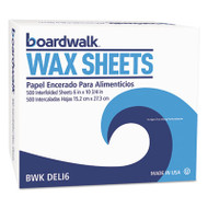 "Boardwalk Interfold-Sheet Deli Paper, 6"" x 10 3/4"", White, 500 Sheets/Box (BWKDELI6BX)"