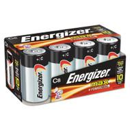 Energizer MAX Alkaline Batteries, C, 8 Batteries/Pack (EVEE93FP8)