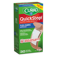 Curad QuickStop Flex Fabric Bandages, 3/4 x 2.83, 30/Box (MIICUR5243)