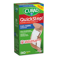 Curad QuickStop Flex Fabric Bandages, Assorted, 30/Box (MIICUR5245)