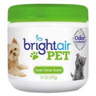 BRIGHT Air Pet Odor Eliminator, Cool Citrus, 14 oz Jar (BRI900258EA)