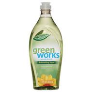 Green Works Dishwashing Liquid, Original Fresh, 22 oz Squeeze Bottle, 6/Carton (CLO31207)