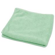 "Diversey TASKI Microstandard Cloths, Green, 12 1/2"" x 12 1/2"", 20/Pack (DVO5787412)"