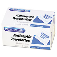 PhysiciansCare by First Aid Only First Aid Antiseptic Towelettes, 25/Box (FAO51028)