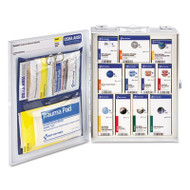 First Aid Only SmartCompliance Food Service Cabinet w/o Medications for 25 People, 94 Pieces (FAO90658)