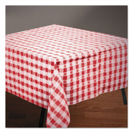 "Hoffmaster Tissue/Poly Tablecovers, 54"" x 108"", Red/White Gingham (HFM220670)"