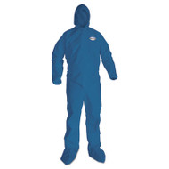 KleenGuard* A20 Breathable Particle Protection Coveralls, X-Large, Blue, 24/Carton (KCC58524)