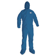 KleenGuard* A20 Breathable Particle Protection Coveralls, 2X-Large, Blue, 24/Carton (KCC58525)