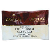 Day to Day Coffee 100% Pure Coffee, French Roast, 2 oz Pack, 42/Carton (PCO23005)