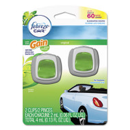 Febreze Car Vent Clips, Gain Original, 2 ml Clip, 2/Pack, 8 Pk/Carton (PGC94731CT)