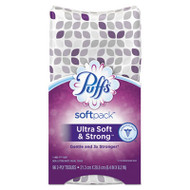 Puffs Ultra Soft & Strong Facial Tissue, 2-Ply, White, 96 Sheets/SoftPack, 9/Ctn (PGC96745)