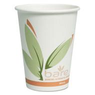 SOLO Cup Company Bare Eco-Forward PCF Hot Cups, Paper, Green/White, 12 oz, 300/Carton (SCCOF12RCJ8484)