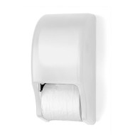 Palmer Fixture Two Roll Standard Tissue Dispenser - White Translucent