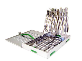 Orthodontic Sterilization Cassette with Plier Rack by SteriSource Inc.