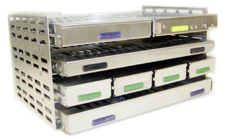 Transport rack with 4 shelves  for flat cassettes