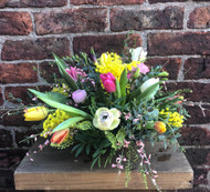Our Spring Arrangement is, we think, a bit special! It is choc full of the freshest, brightest and most fragrant Spring Flowers and we fully expect a 'Wow' moment on the face of every recipient!