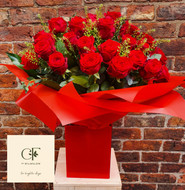 When you want to make a statement, then a gift of 50 Red Roses certainly does the trick! We will specially order Premium roses for this order for you, so we need to request 48 hours notice please for these orders, but this bouquet is the epitome of Romantic Luxury!