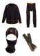 Copperhead Clothing Complete Black Base Layer Set