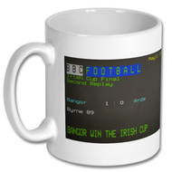 Bangor 1 Ards 0 Irish Cup Final Ceefax Mug