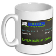 Blackburn Rovers PL Title Day Ceefax Mug -  Kelly Cates' Choice