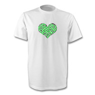 Green and Black Heart T-Shirt