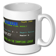 Man United v Bayern Munich CL Ceefax Mug