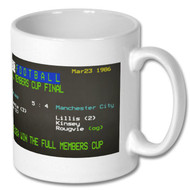 Chelsea 5 : Man City  Full Members Cup Final Ceefax Mug